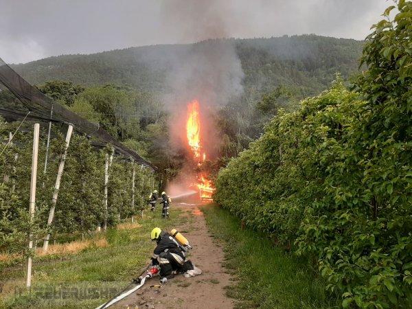 Brandeinsatz vom 17.05.2020     (C) Feuerwehr Tschars (2020)