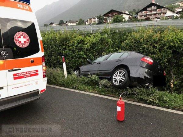 Verkehrsunfall vom 12.07.2018  |  (C) Feuerwehr Tschars (2018)
