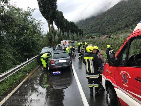 Verkehrsunfall vom 01.09.2018  |  (C) Feuerwehr Tschars (2018)