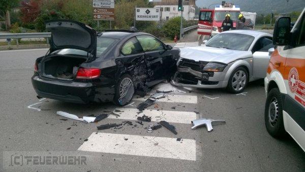 Verkehrsunfall vom 15.10.2019  |  (C) Feuerwehr Tschars (2019)